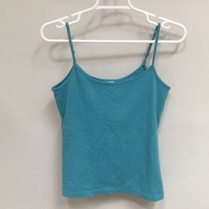 NWOT! Teal Stretchy Spaghetti Strap Camisole/ Tank